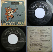 "ELVIS PRESLEY TEDDY BEAR 7"" EP 4 SONGS CME-123 UNIQ PS! CHILEAN ONLY TOP RARITY!"