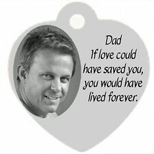 Personalized Custom Heart Pendant Necklace Dad Memorial in memory of Remembrance