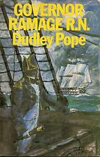 DUDLEY POPE GOVERNOR RAMAGE R.N. FIRST EDITION HARDBACK U/C DJ 1973