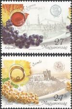 Hungary 1999 Wine Making/Alcohol/Drink/Grapes/Plants/Buildings 2v set (n45536)