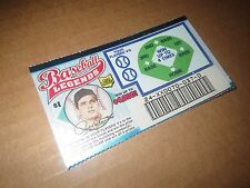 1999 Ohio RARE Sample Lottery Ticket of Rocky Colavito of the Cleveland Indians