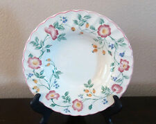 Churchill Fine English Tableware Briar Rose Rim Soup Bowls x1 Pink/Purple Flower