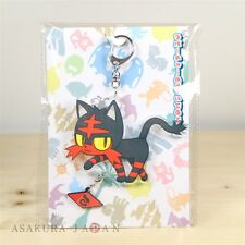 Pokemon Center Original Acrylic key chain with Rubber Charm Litten Fire Z