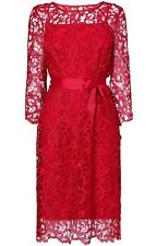 Brand New Phase Eight / 8 Harper Guipure Red Lace Dress Size 12 £140!! In Box
