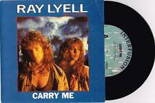 "RAY LYELL AND THE STORM - CARRY ME - RARE 7"" PROMO VINYL RECORD w PICT SLV 1990"