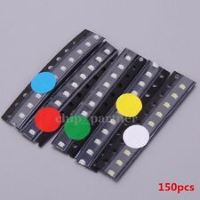 150Pcs SMD 0805 LED Diodes Light Assorted Kit 5Value Red Blue Green Yellow White