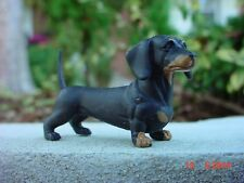 Dachshund Dog Miniature Figurine 1/18 Scale Diorama Accessory Item