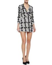 398 NEW DIANE von FURSTENBERG Celeste Romper Dress,2,Jersey Silk,School,DVF,NWT