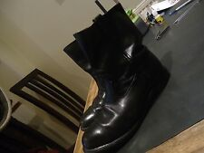 "SONORA U.S.A. Vintage Roper/Biker Boots (Height 9.5"") Black Leather 9.5 VGC"