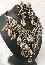 KUCHI TRIBAL COWRIE Shell NECKLACE BELLY DANCE Costume Jewelry Fusion Chic Gypsy