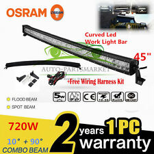 "OSRAM CURVED 720W 45"" LED Combo Work Light Bar Offroad Driving Lamp FLOOD SPOT"