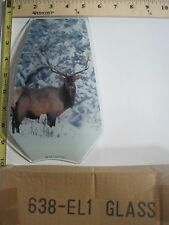FREE US SHIP OK Touch Lamp Replacement Glass Panel Elk in Woods Winter 638-EL1