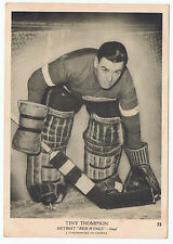1939-40 O-Pee-Chee V301-1 Tiny Thompson # 75 Detroit Red Wings  (5 x 7 card) VG