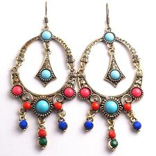 Wholesale Retro Celebration Earring Colorful Women Girls Drop Earrings