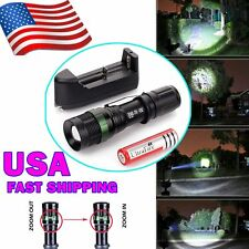 5000 Lumen CREE XM-L T6 LED Flashlight Torch Lamp Zoomable+18650 Battery+Charger