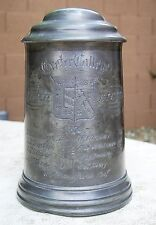 1872 Exeter College Scratch Eights Rowing Pewter Tankard Trophy Dixon Rowell