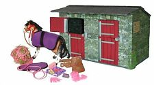 Wooden Model Stables with Pony and Accessories 1/12th scale