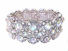 Ab crystal bracelet Silver ballroom latin dance competition  Fitness Bikini prom