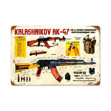 KALASHNIKOV AK-47 Schild 45,5cm Automatik 7,62 mm Millitär Russland Armee UDSSR
