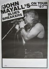 "JOHN MAYALL'S BLUES BREAKERS TOUR POSTER / KONZERTPLAKAT ""ON TOUR 1987"""