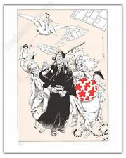 Serigraphie MICHETZ Peyo Loisel Moebius Herge 200ex-s