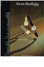 PUBLICITE  1979   ALEXIS BARTHELAY    montre quartz