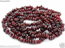 Natural Garnet Gemstone 5-8mm Chip Nugget Spacer Loose Beads 35'' Jewelry Crafts