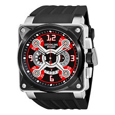 Stuhrling Original Men's 321.331640 Quartz Black and Red Chronograph Date Watch