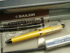 Sailor Japanese FP  Profit Color 1019 / Yellow 14K F-nib with converter 1201-270