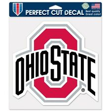 "Ohio State Buckeyes 8""x8"" Die-Cut Auto Decal [NEW] OSU Car Sticker Emblem CDG"