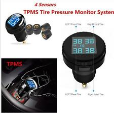 Auto Car Tire Tyre Pressure Monitor System+4 External Sensors LCD Display TPMS