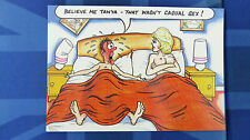 Bamforth Comic Postcard 1980s Blonde Large Boobs Nude Bed Casual Sex TANYA Theme