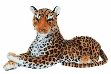 "33""  Large Leopard Wild Real Life Sitting Soft Plush  48670X"