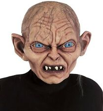 Gollum Mask Lotr Lord Of the Rings Deluxe Full Latex Costume Golum Smeagol -Fast