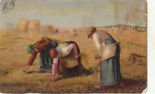 BF33909 peasants field working painting  art front/back scan
