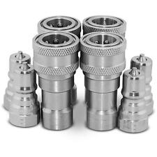 "4 Sets of 1/4"" NPT ISO 7241-B Quick Disconnect Hydraulic Couplings / Couplers"