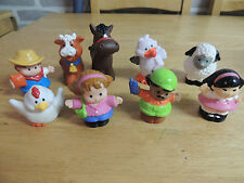 10 Fisher Price Little People personaggi, animali, E, Pollo, Mucca Papera la gente