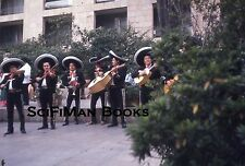 KODACHROME 35mm Slide Mexico Mariachi Band Costumes Sombreros Hotel People 1972!