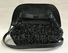Authentic Kate Spade Small Scotty Black Sequin Bow Bag $275