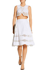 All White: Jonathan Simkhai £1K+ Brocade/Mesh Panel Skirt & Top NWT US0-2/UK4-6
