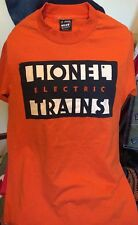 Vintage LIONEL ELECTRIC TRAINS 50/50% Cotton/ Poly T Shirt. Size Small