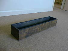 Window box planter rustic oak wooden plant trough tub ROT PROOF replica 80x17cm