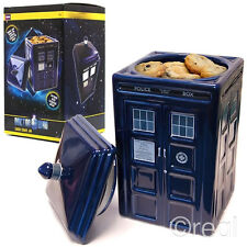 New Doctor Who Ceramic TARDIS Cookie Jar Biscuit Tin With Lid Kitchen Official