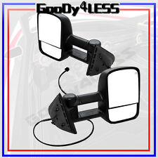 Left+Right 2007-2013 Silverado Sierra Telescoping Tow Power Heated Side Mirrors