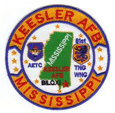 USAF BASE PATCH, KEESLER AFB MISSISSIPPI, AETC, 81ST TRAINING WING             Y