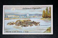 British Artillery River Crossing    World War 1  Original  Vintage  Card