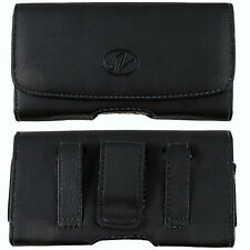 Leather Pouch For AT&T Kyocera DuraForce XD w/ Hybrid Case on it