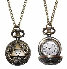 Legend of Zelda TRIFORCE Logo Bronze Finish Pendant Pocket Watch