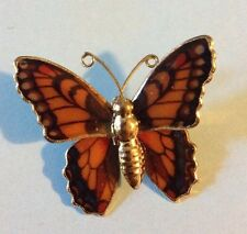 Vintage Butterfly Brooch Pin Enamel Jewelry