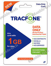TracFone DATA ONLY 1GB Smartphone Plan for Android PIN # Number Trac Phone Cell